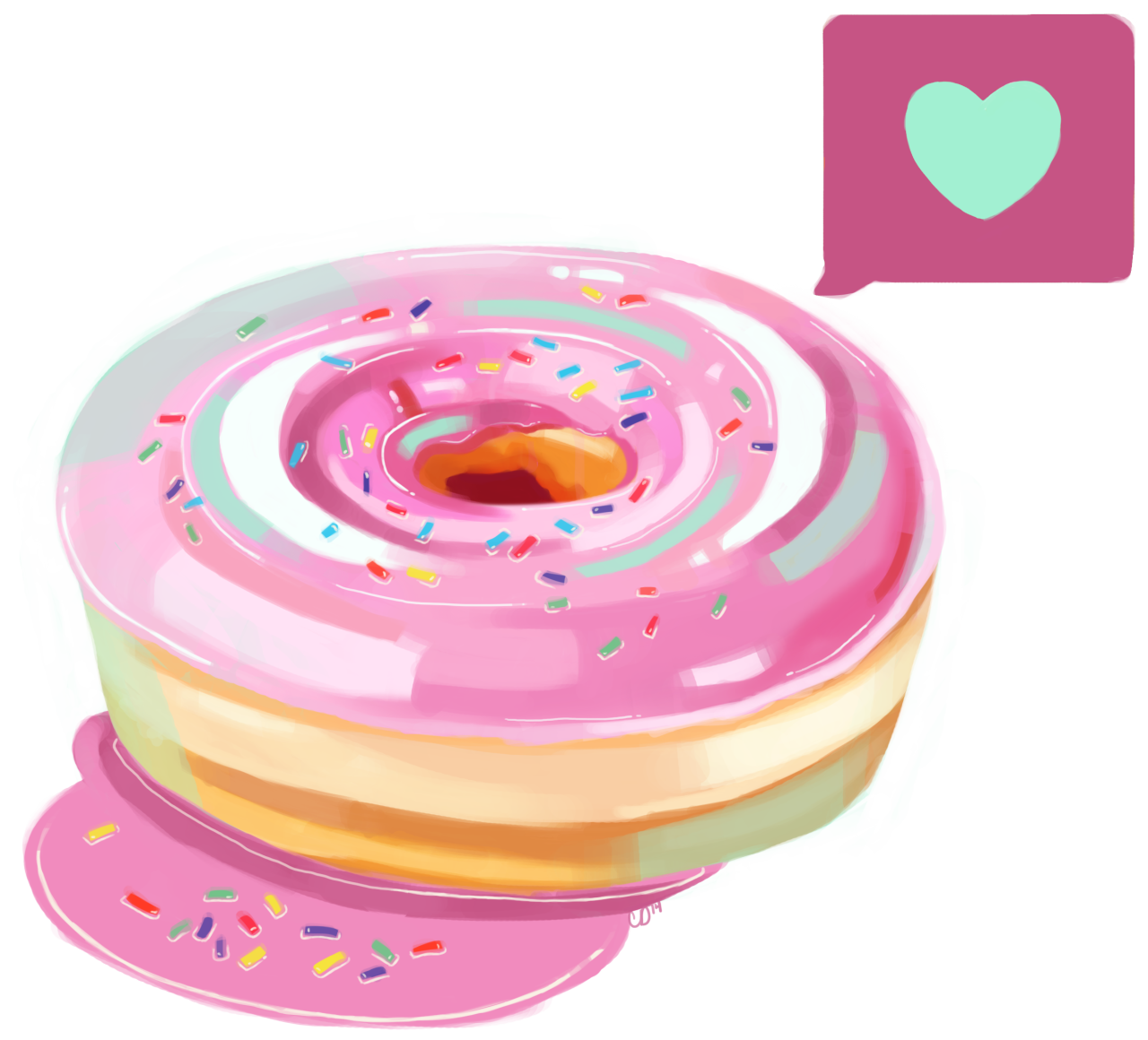 Clipart heart donut. Here s the png