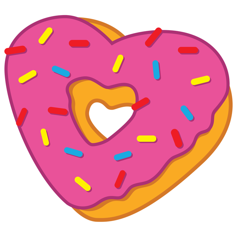Free on dumielauxepices net. Heart clipart donut