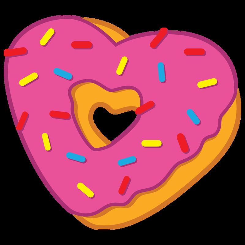 Donut free on dumielauxepices. Doughnut clipart heart