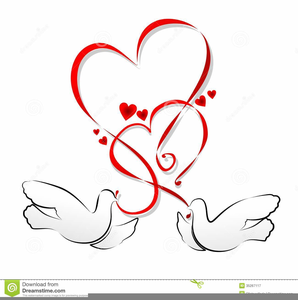 And heart free images. Hearts clipart dove