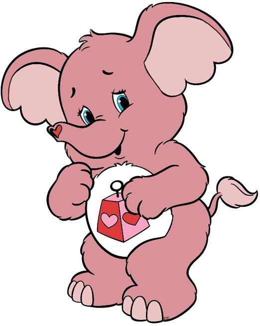 Care bears and cousins. Heart clipart elephant