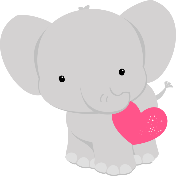 Pin by organized chaos. Clipart heart elephant