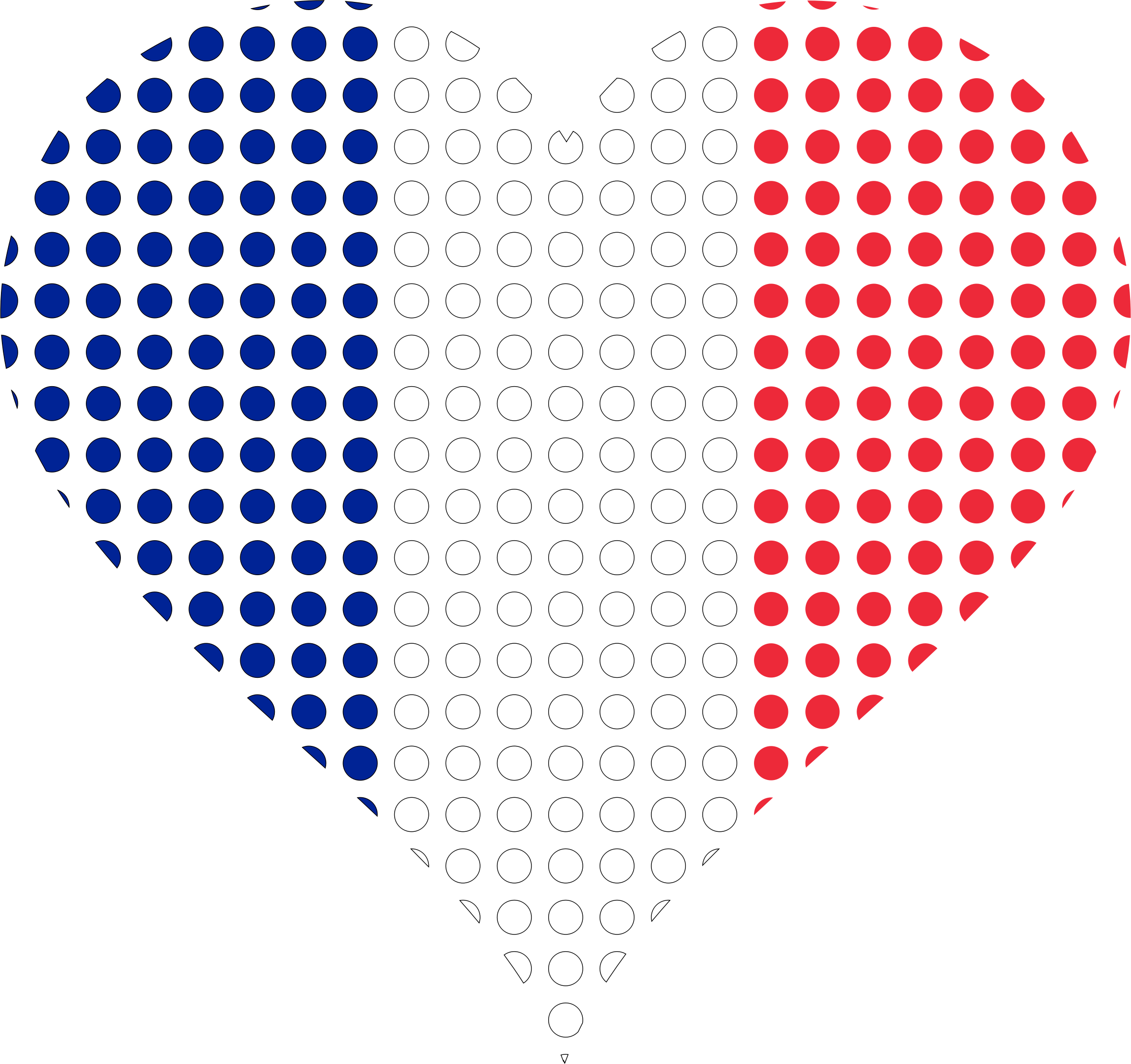 Heart france flag circles. French clipart icon