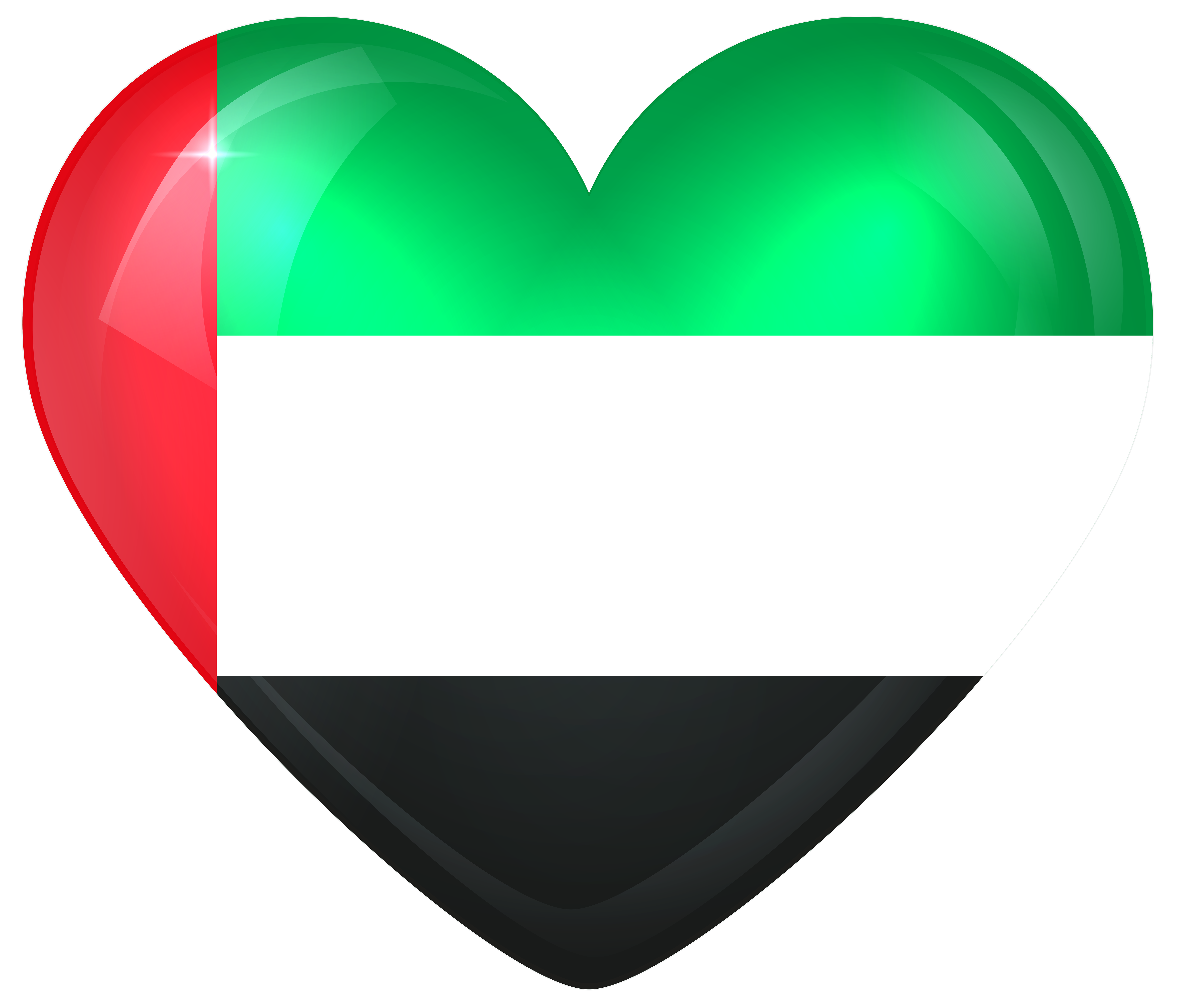 Hearts clipart flag. United arab emirates large