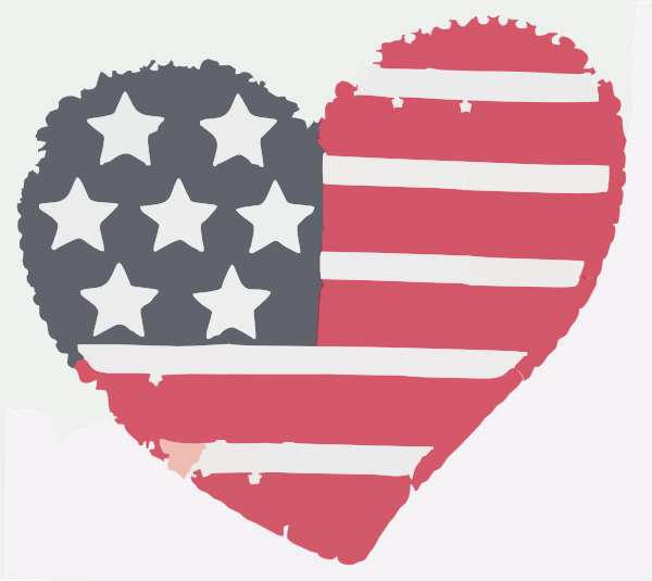 Heart clipart flag. Softened clip art at