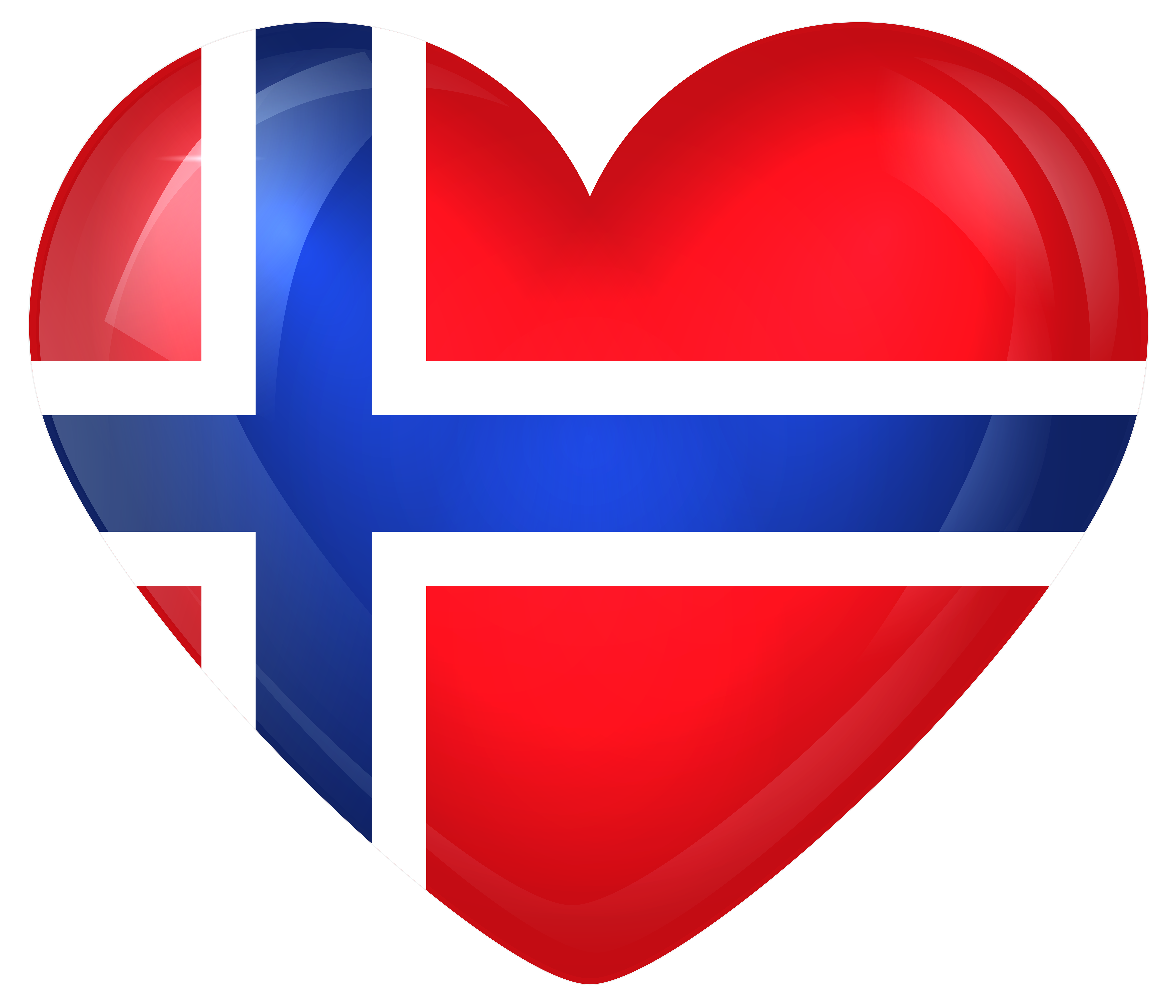 Norway large heart gallery. Hearts clipart flag