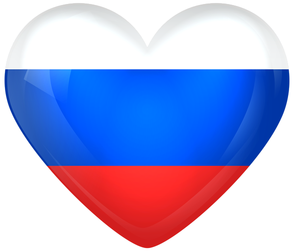Hearts clipart flag. Russia large heart pinterest