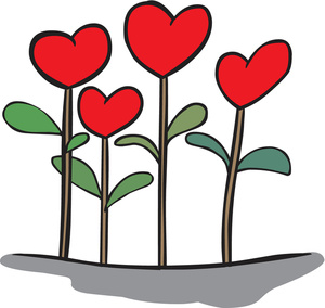 Hearts clipart flower. Free heart cliparts download