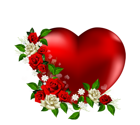 Hearts clipart plant. Heart png with flowers