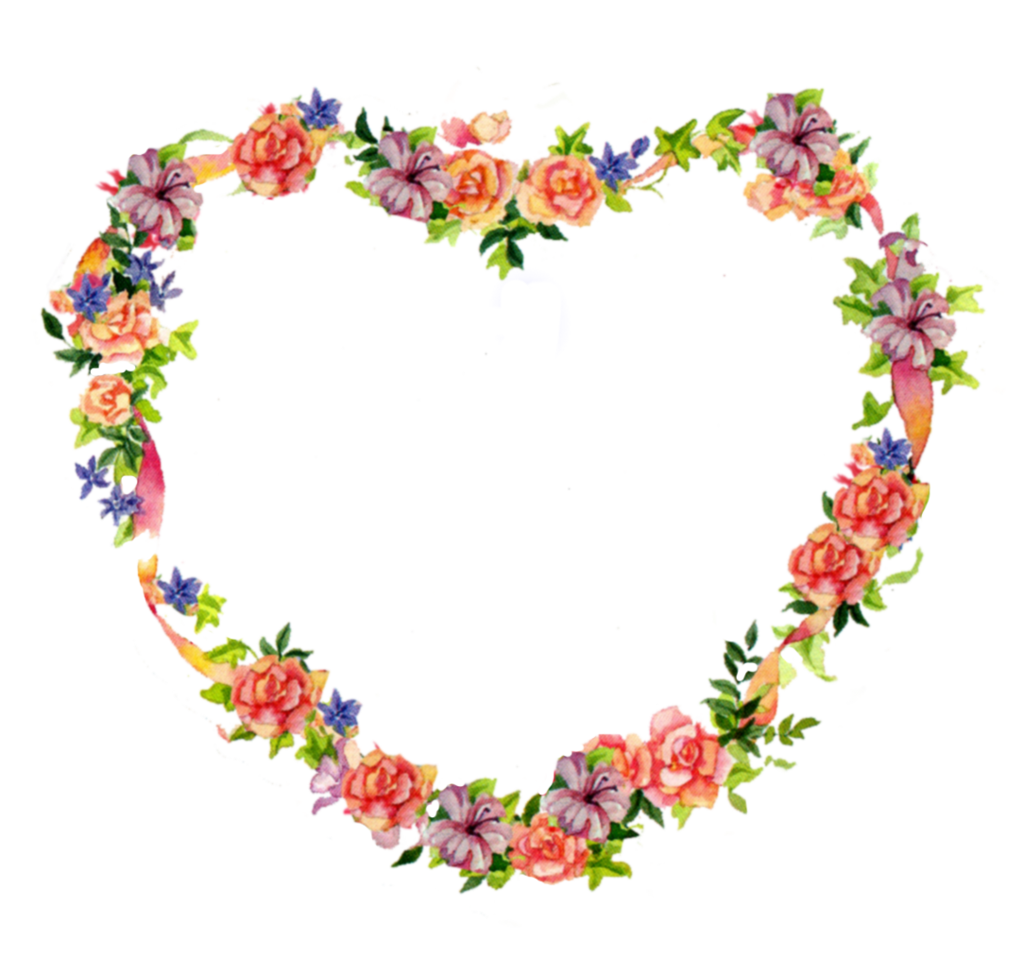 Floral heart tattoos jinifur. Clipart rose wreath