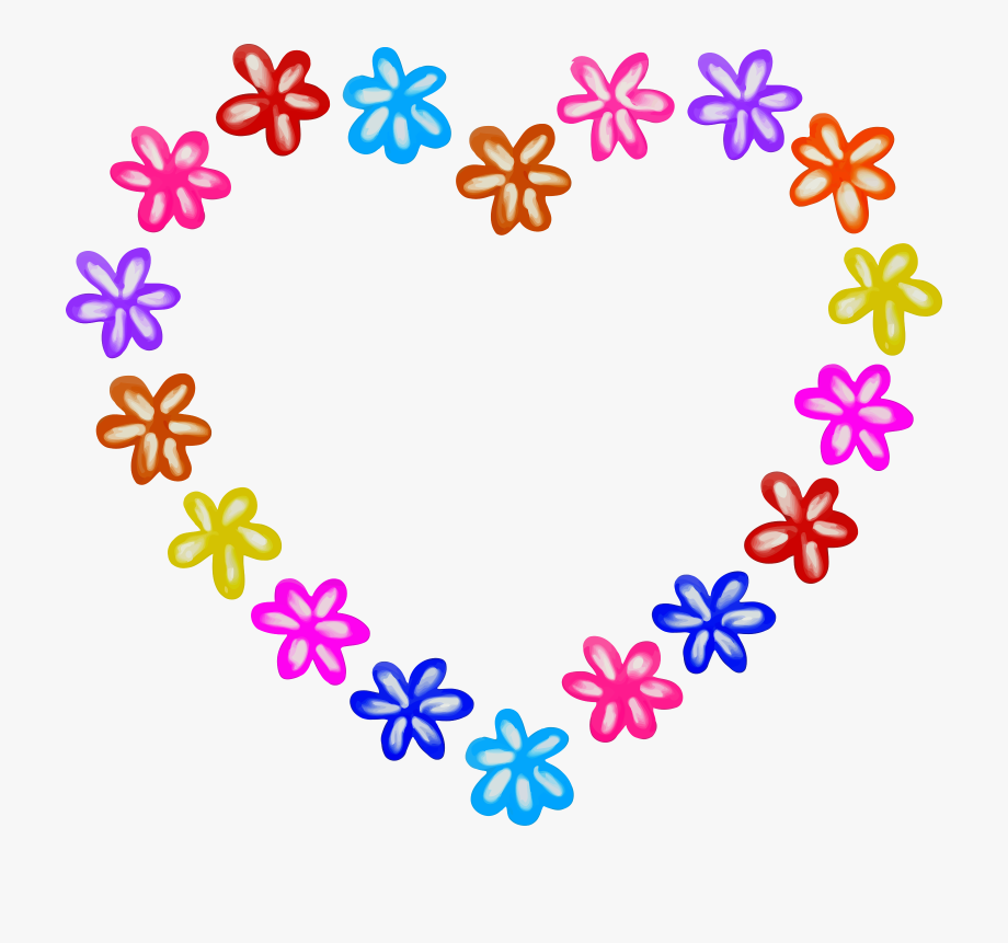 Clipart hearts flower. Heart at getdrawings with