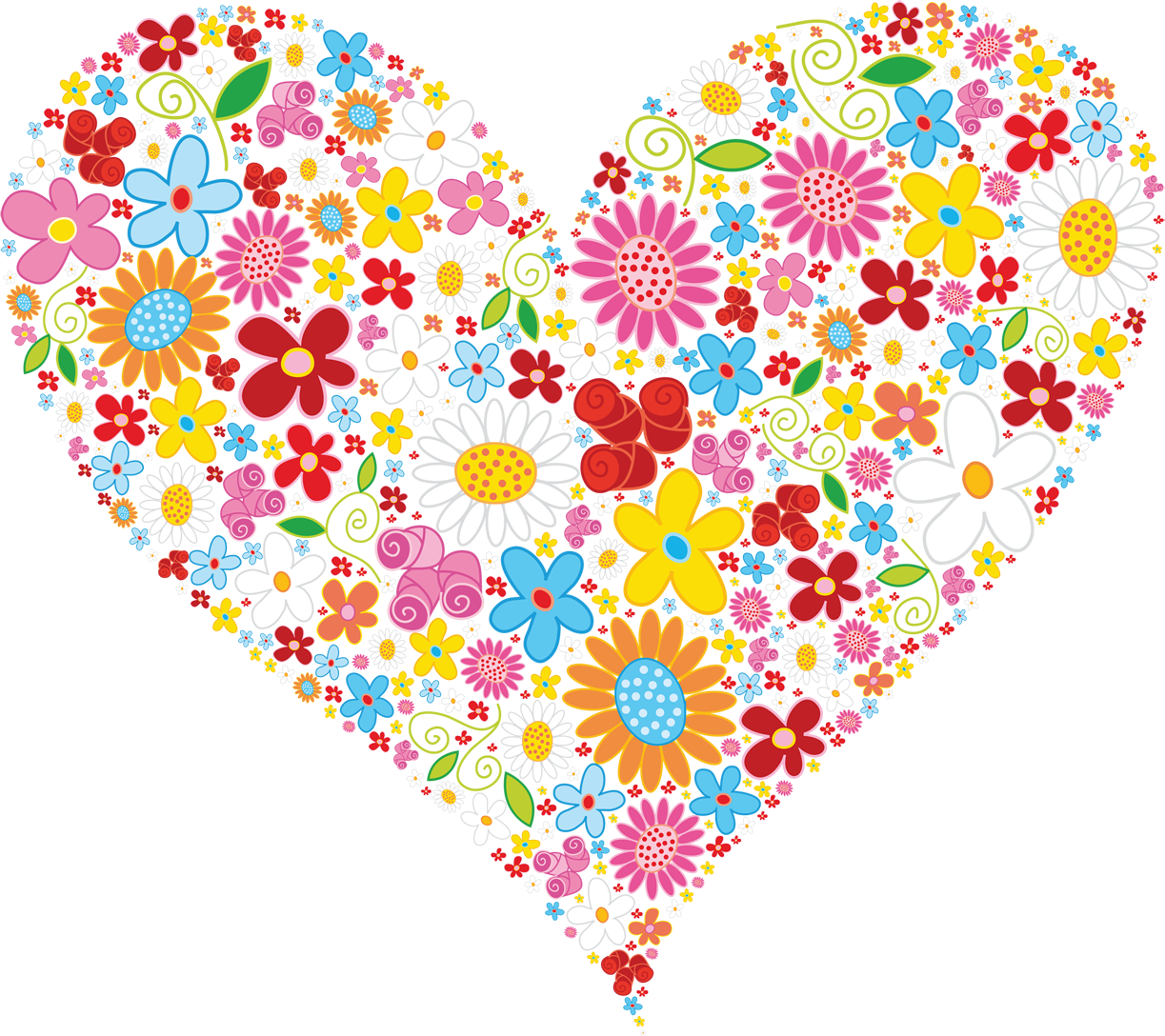 Free heart flower cliparts. Hearts clipart bouquet