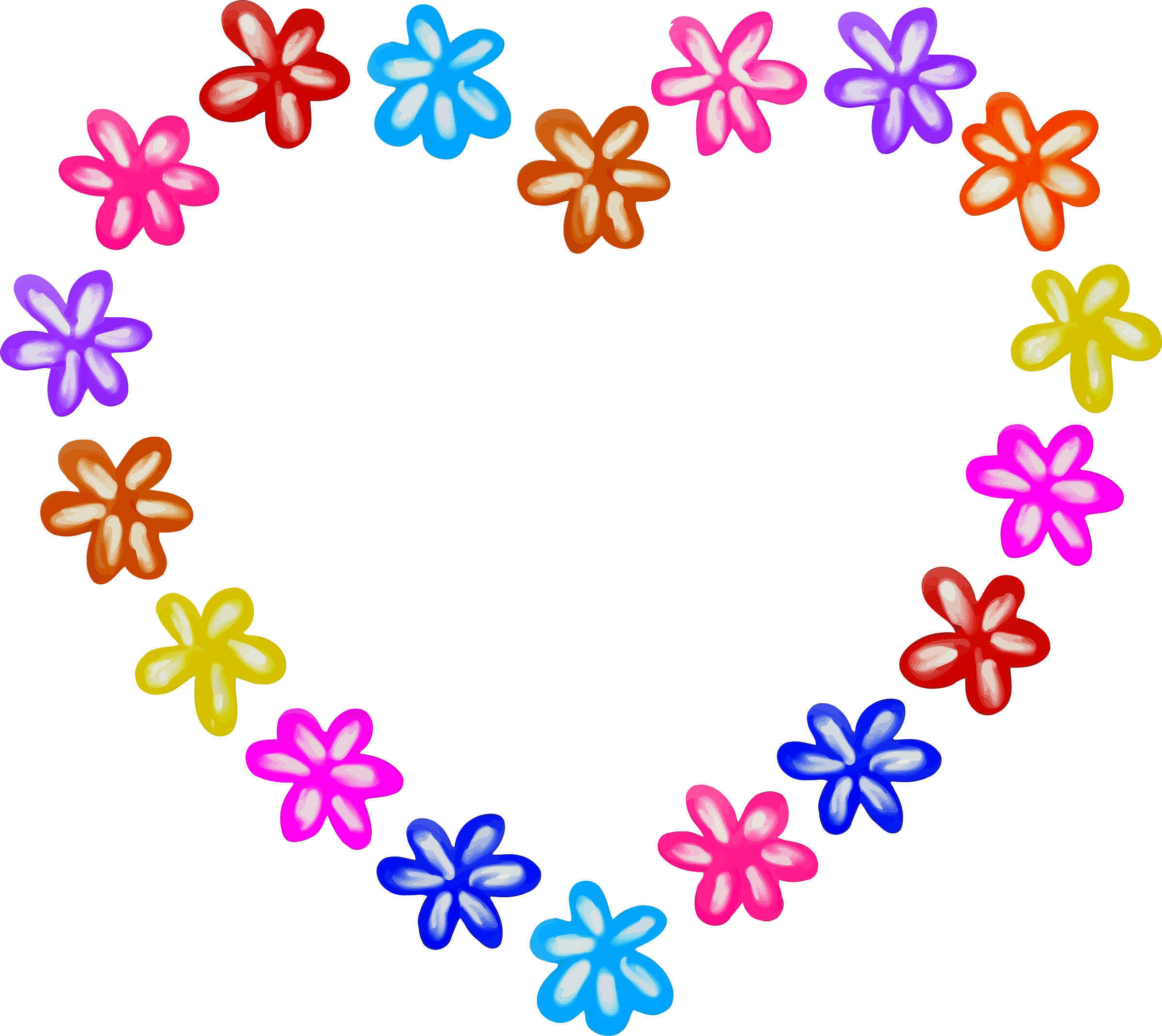 Heart big image png. Hearts clipart flower