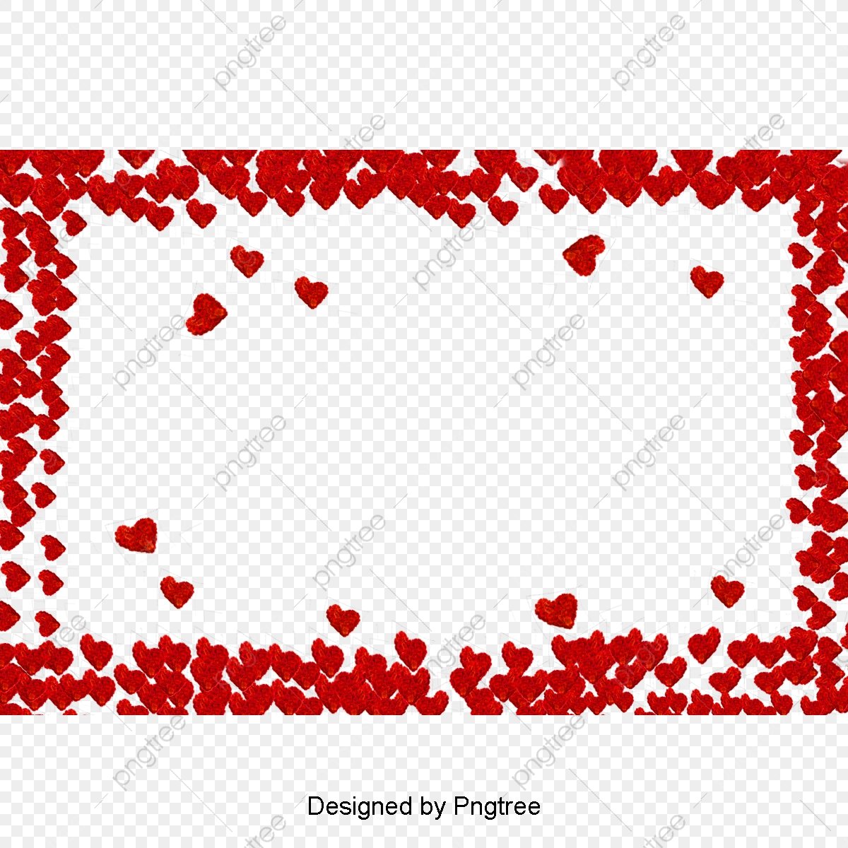 Hearts clipart frame. Red border heart png