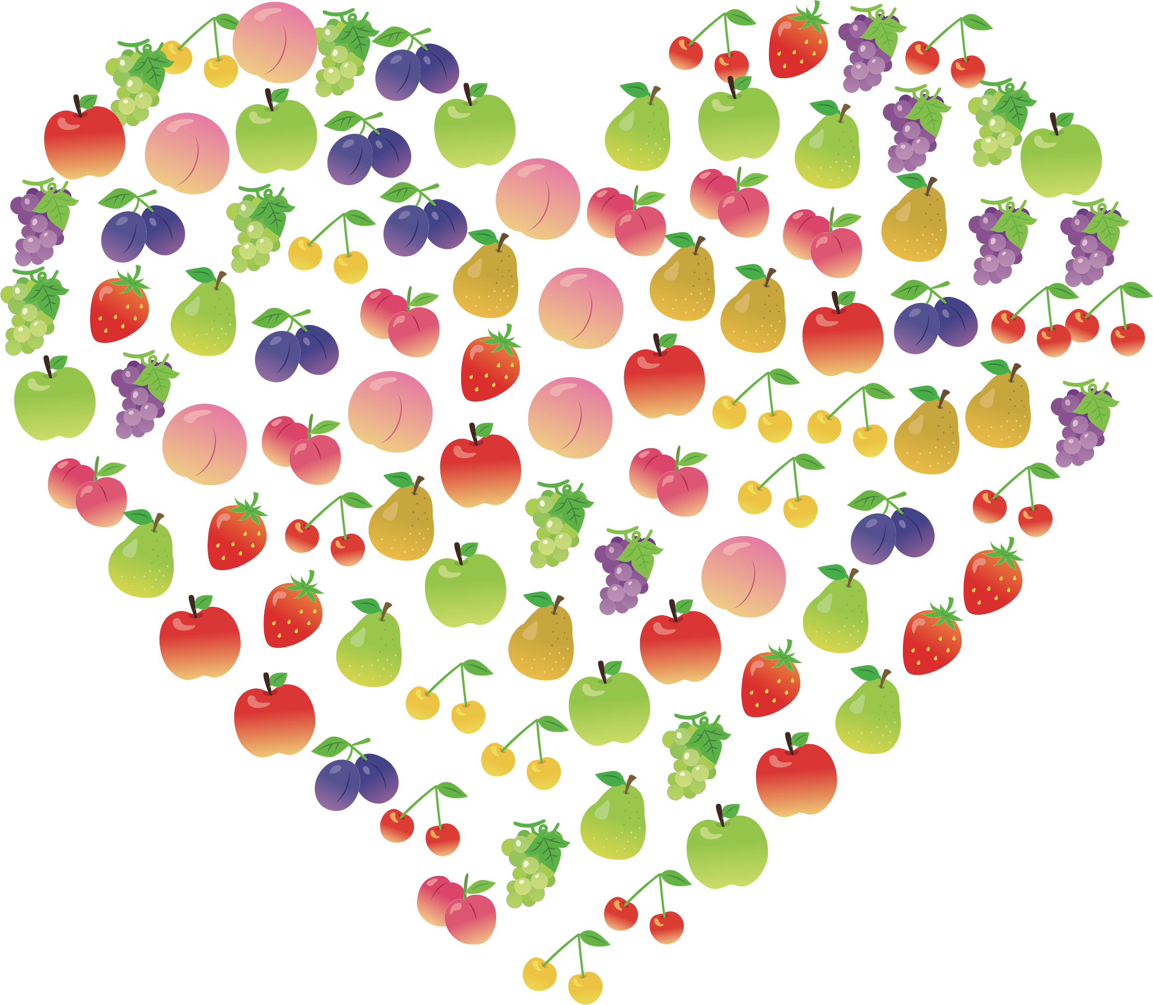 Heart clipart fruit. Fruits ii big image