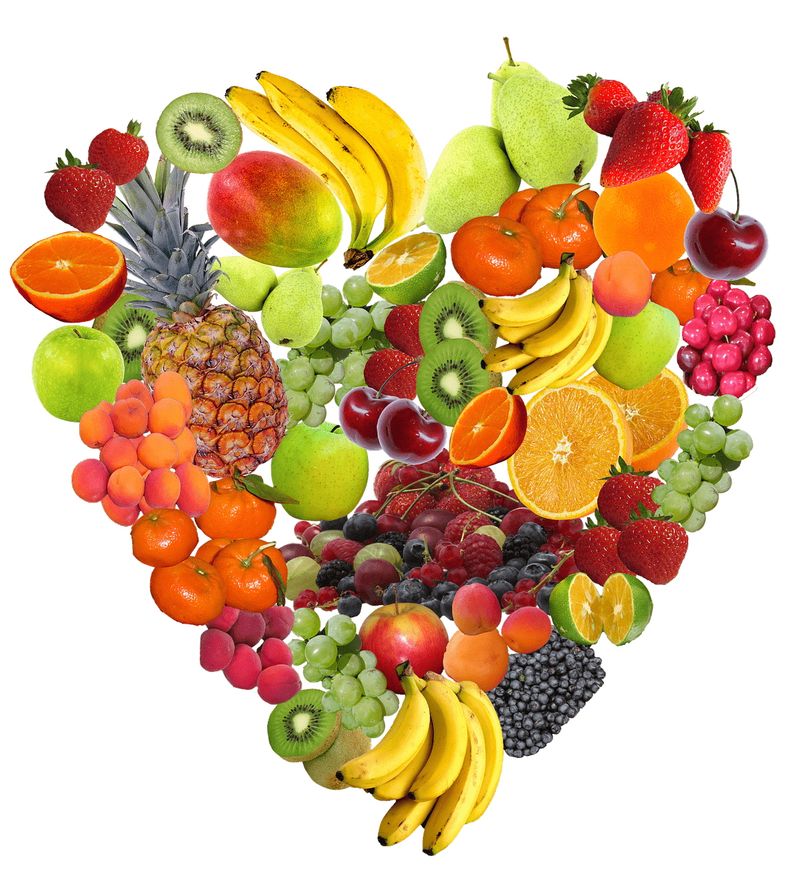 Made of transparent png. Heart clipart fruit