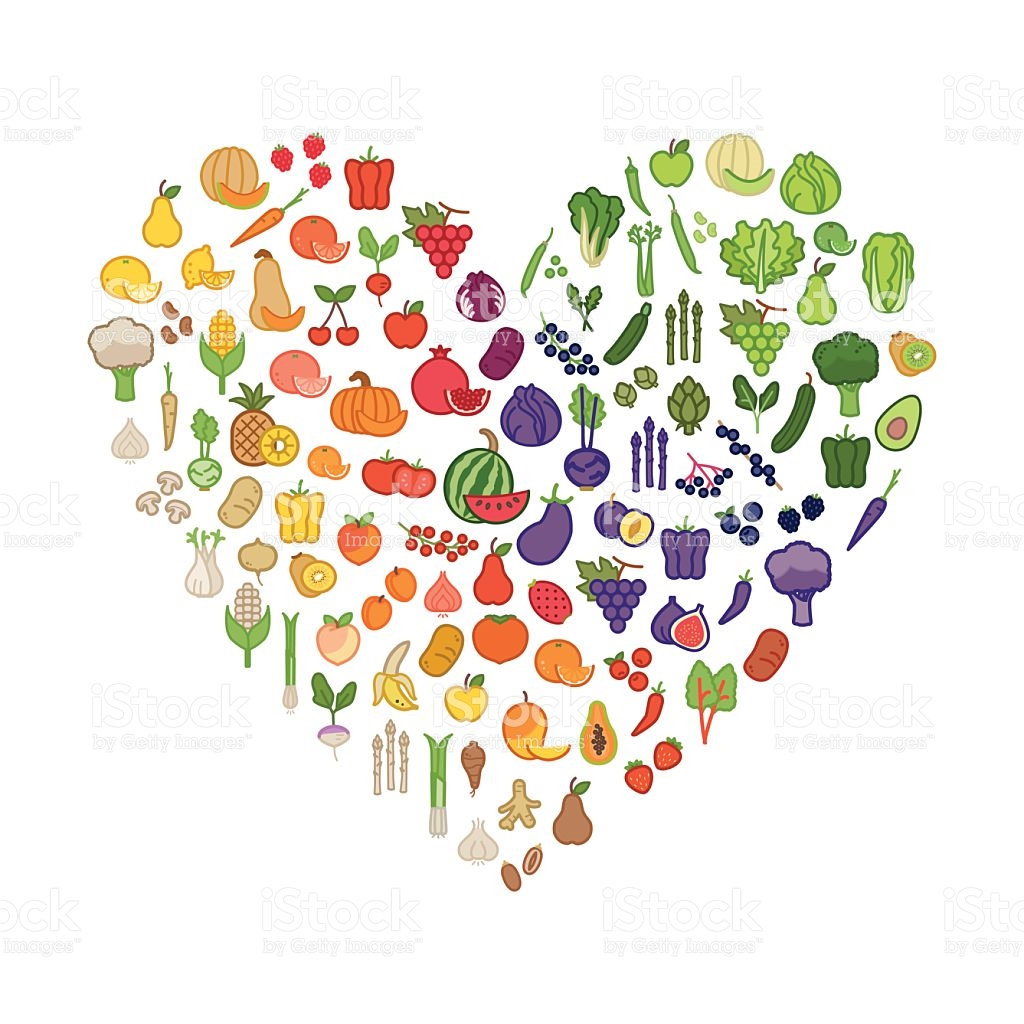 Heart clipart vegetable. Clip art fruit arts