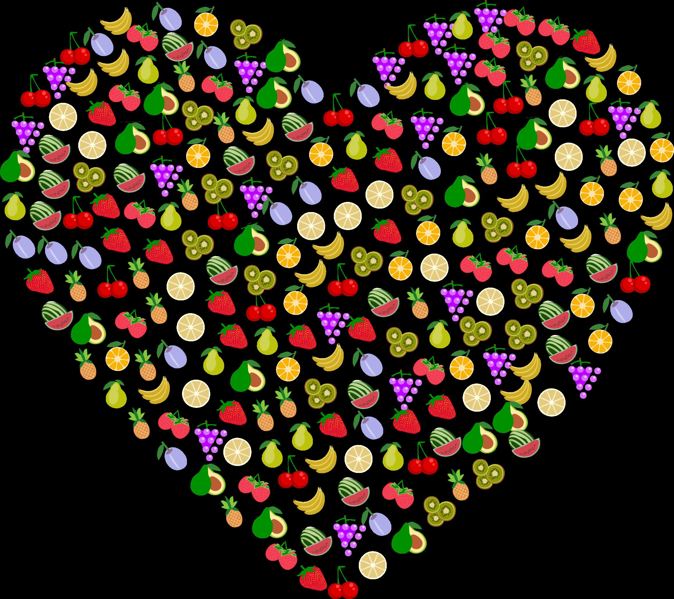 Big image png. Heart clipart fruit