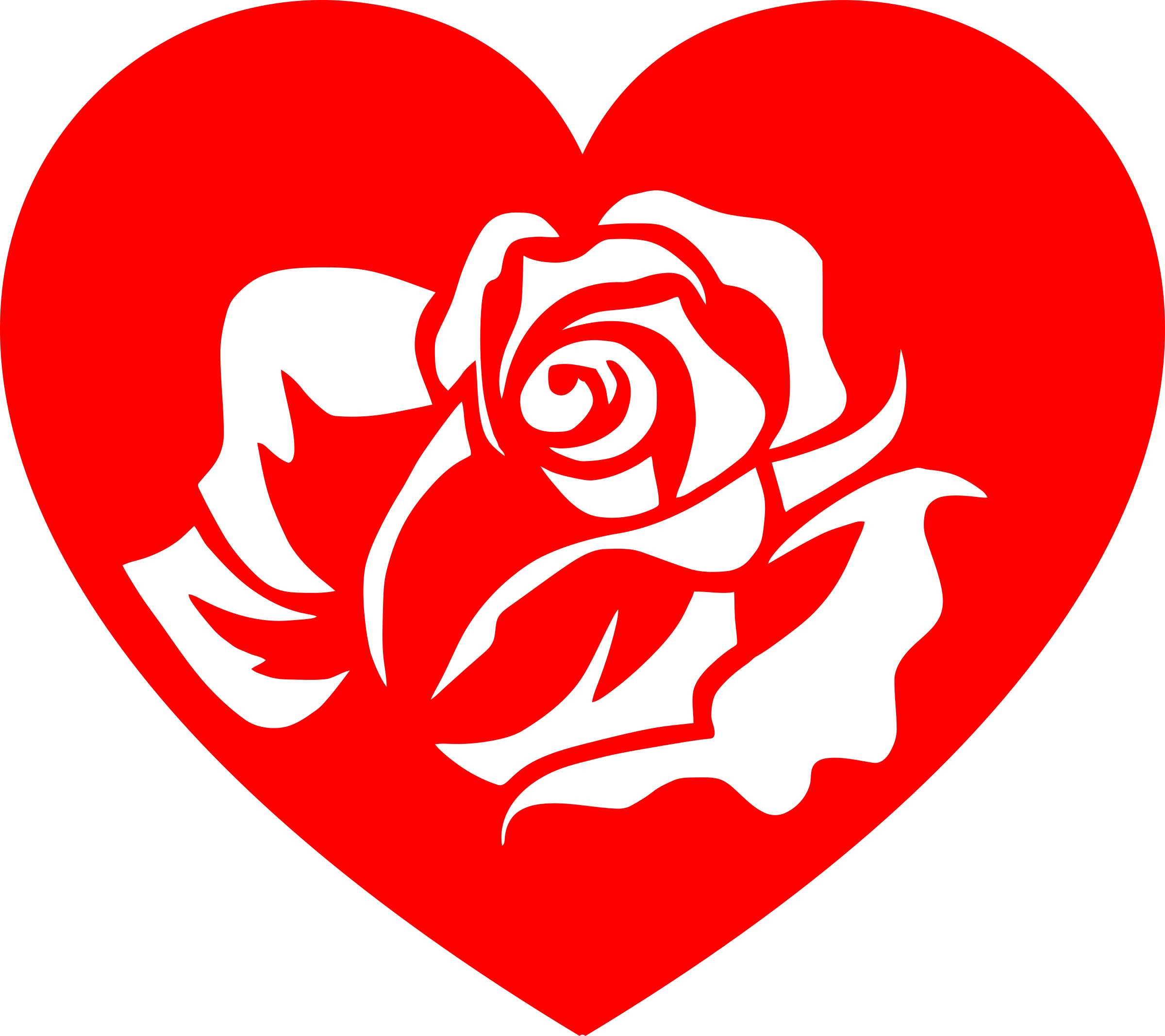 Rose white by serioustux. Clipart roses heart