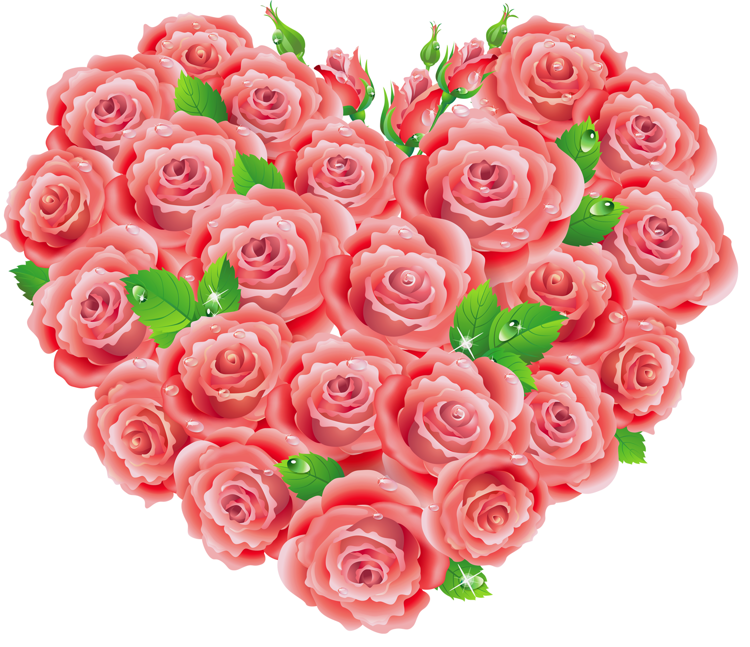 Red roses heart gallery. Clipart hearts rose