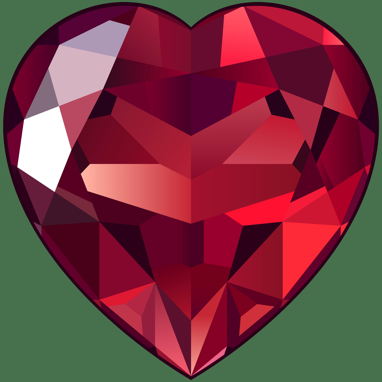 Large ruby transparent png. Clipart heart gem