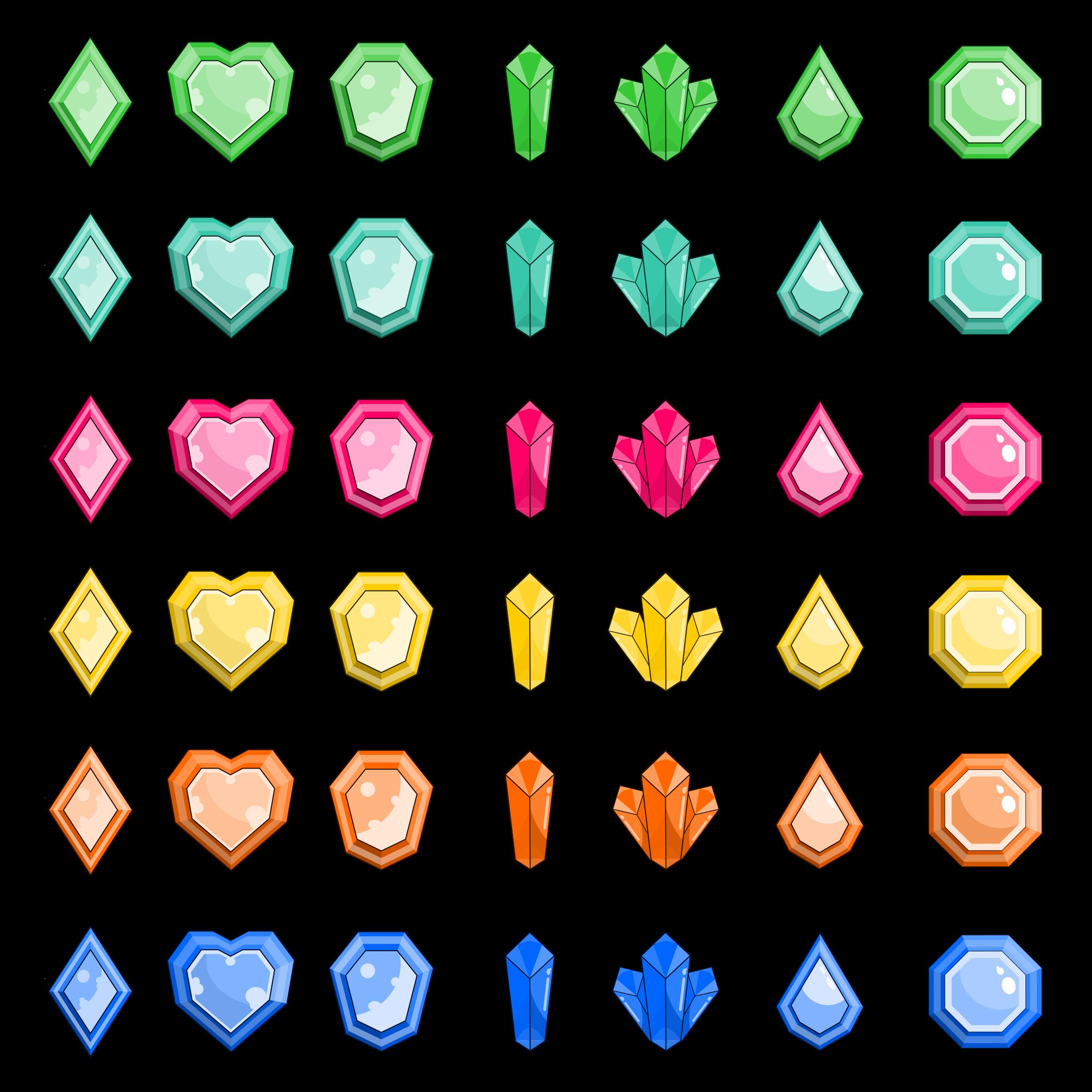 Clipart heart gem. Gems big image png