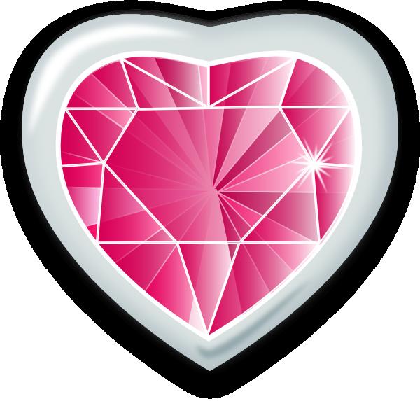 Clip art at clker. Clipart heart gem