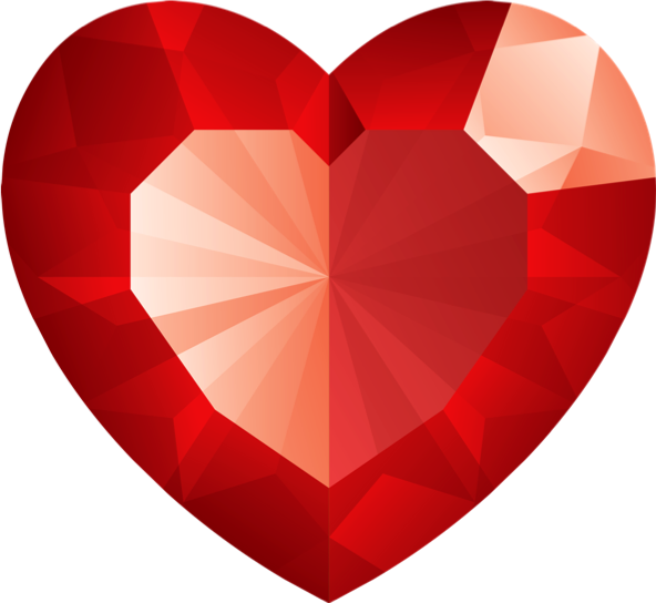 Ruby sparkle shiny sticker. Clipart heart gem