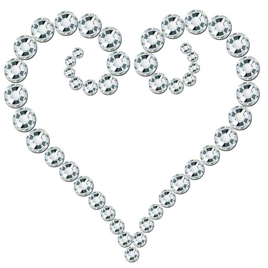 Kh png by princessdawn. Clipart heart gem