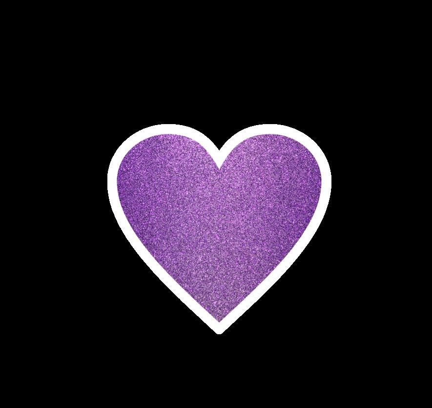 Ftestickers purple cute love. Clipart heart glitter