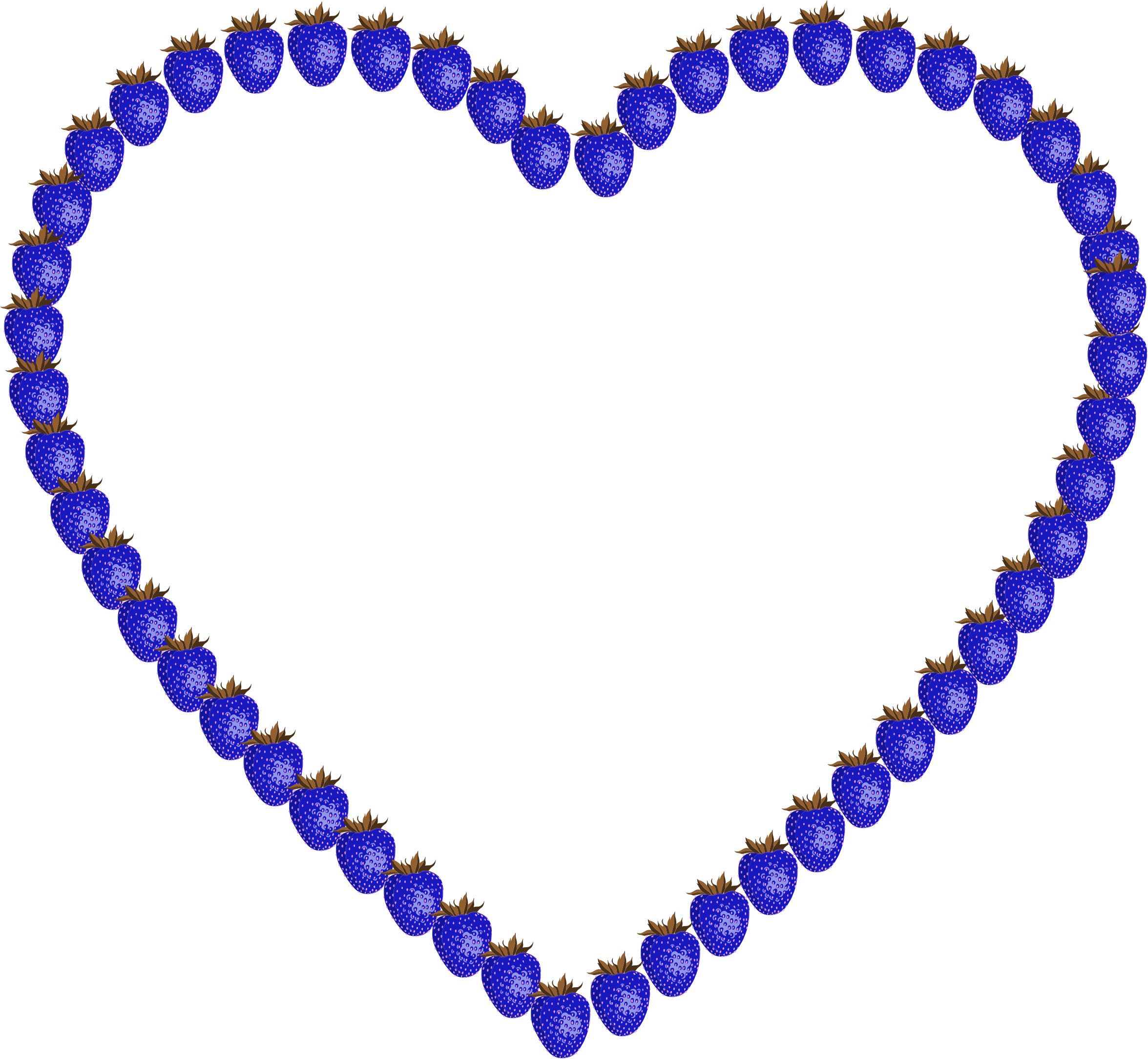 Heart clipart glitter. Blue strawberry big image