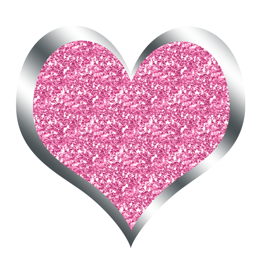 Hearts all things positively. Heart clipart glitter