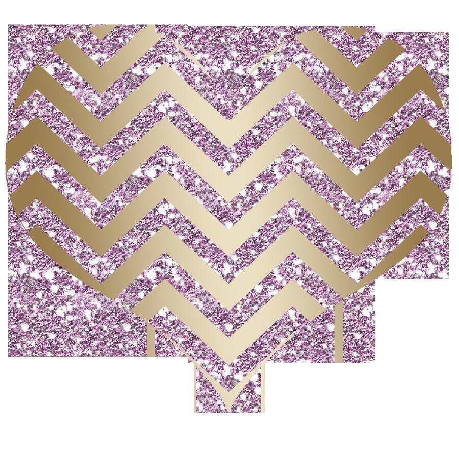 Clipart heart glitter. Chevron baby pink gold