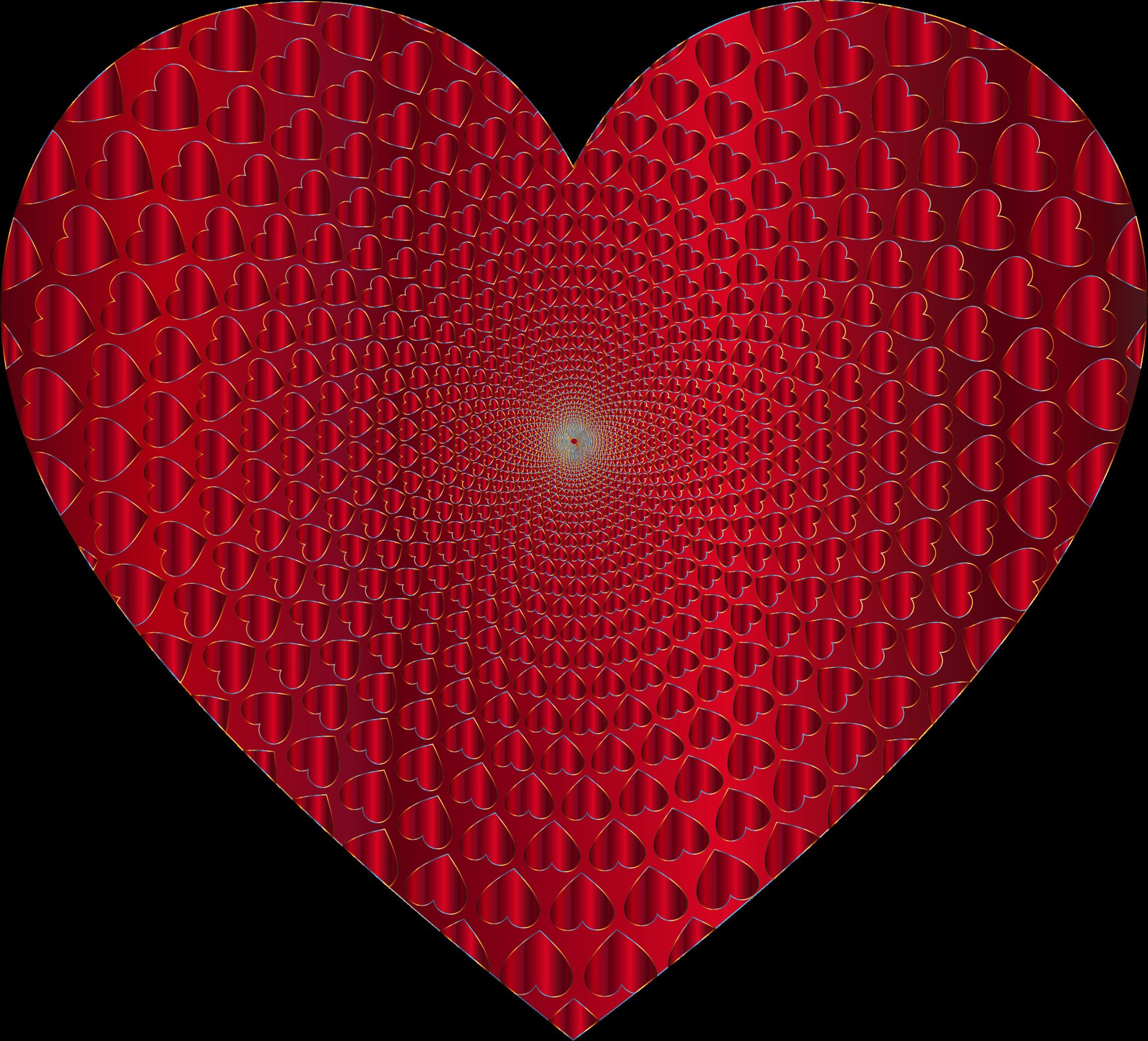 Clipart heart glitter. Prismatic hearts vortex big