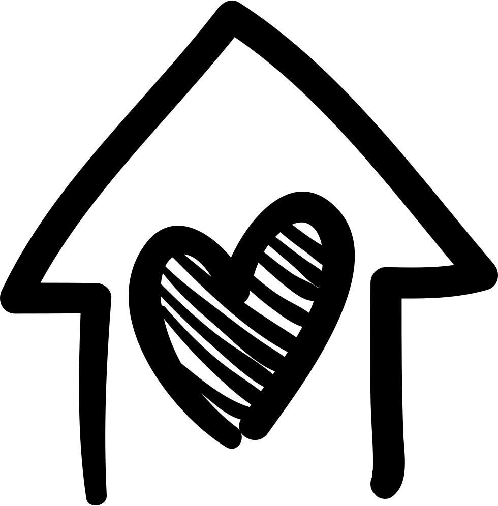 House with building svg. Heart clipart hand drawn