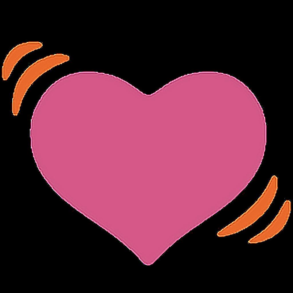 Heartbeat clipart love. Ftestickers heart emoji
