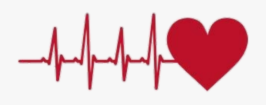 Heart beat sticker with. Hearts clipart heartbeat