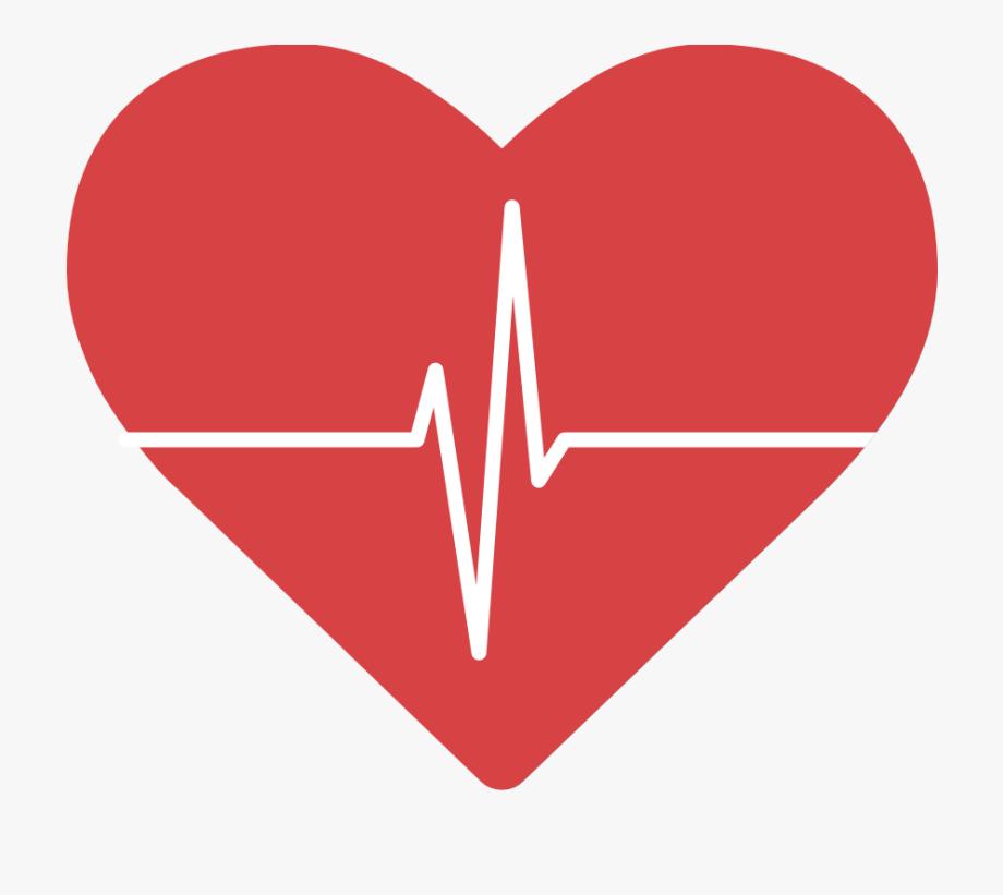Hearts clipart heartbeat. Heart with logo free