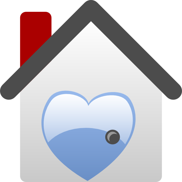 Barretr house love clip. Clipart heart home