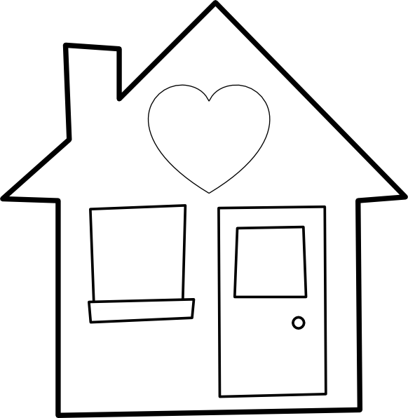 Of the clip art. Clipart heart home
