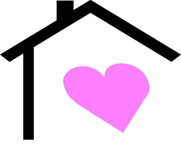 Hearts clipart house. Heart clip art arts