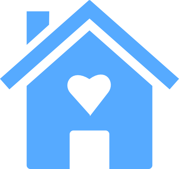Homewithheart clip art at. Clipart heart home