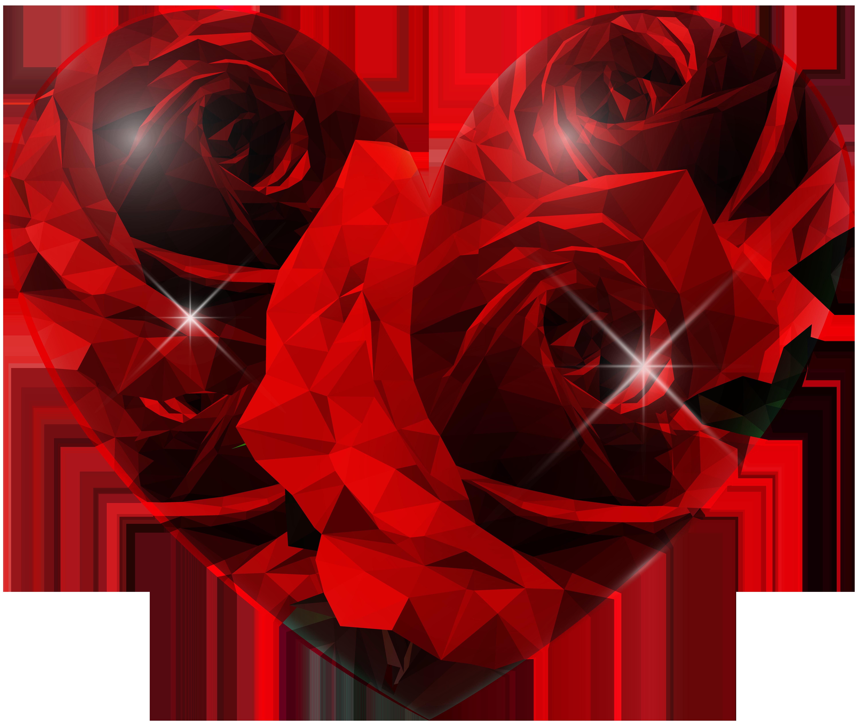 Heart png clip art. Hearts clipart rose