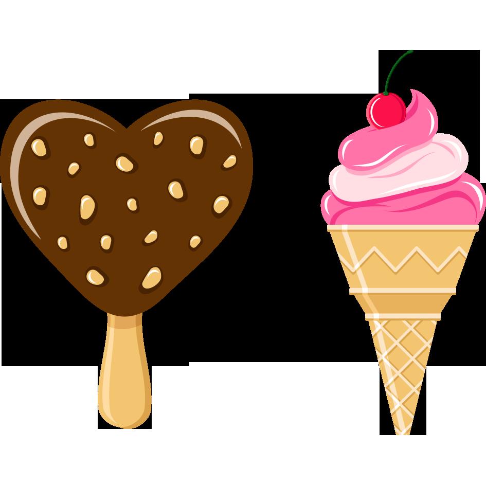 Dessert clipart banana split ice cream. Cone strawberry chocolate creative