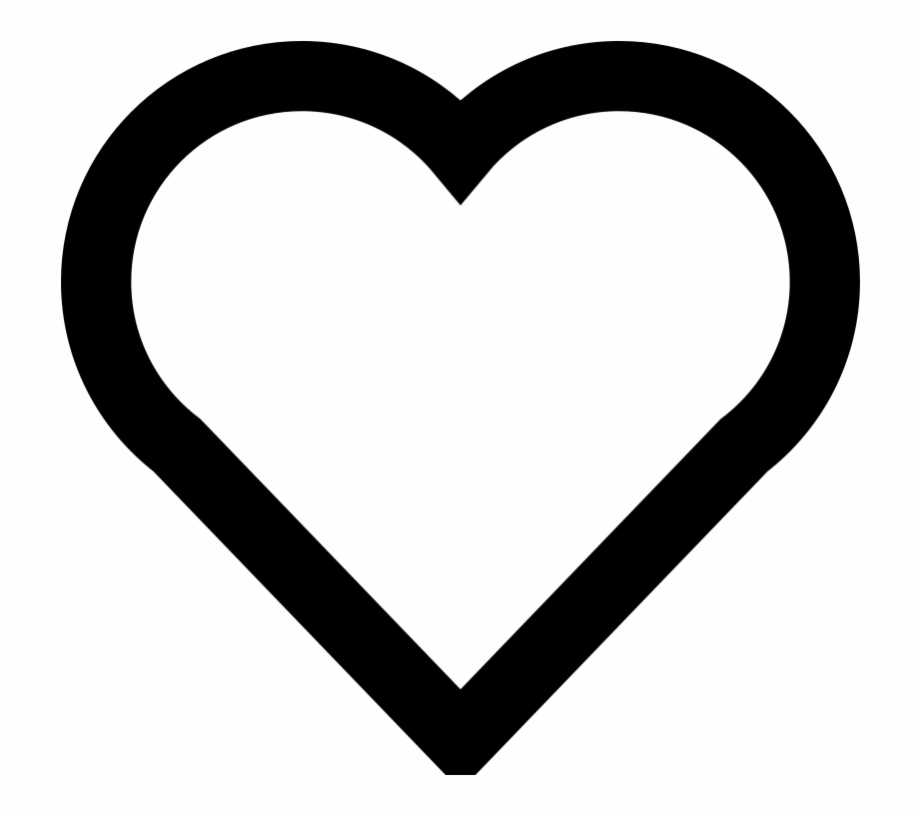 Hearts clipart simple. Hear outline heart icon