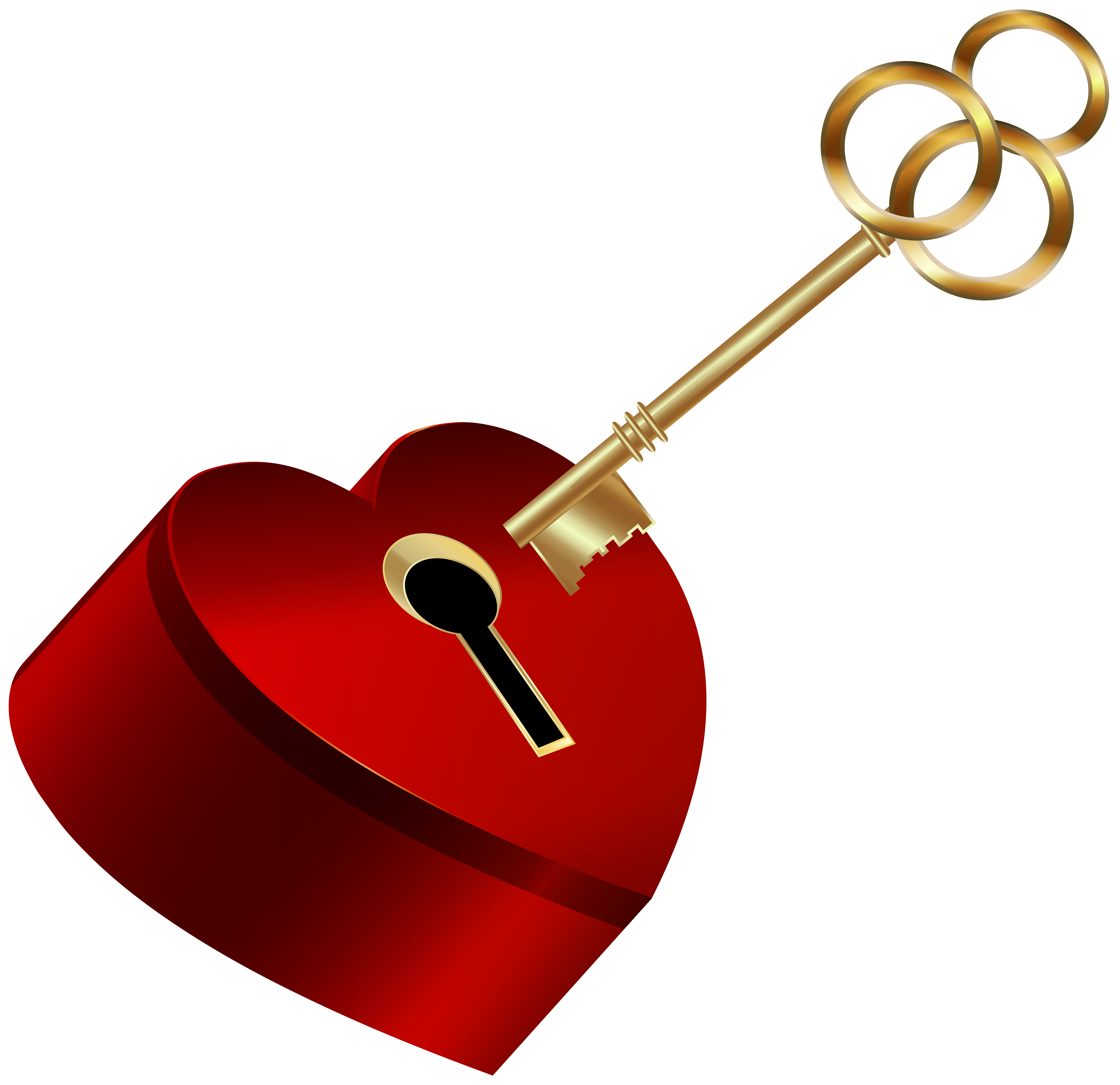 Heart with key png. Keys clipart happy