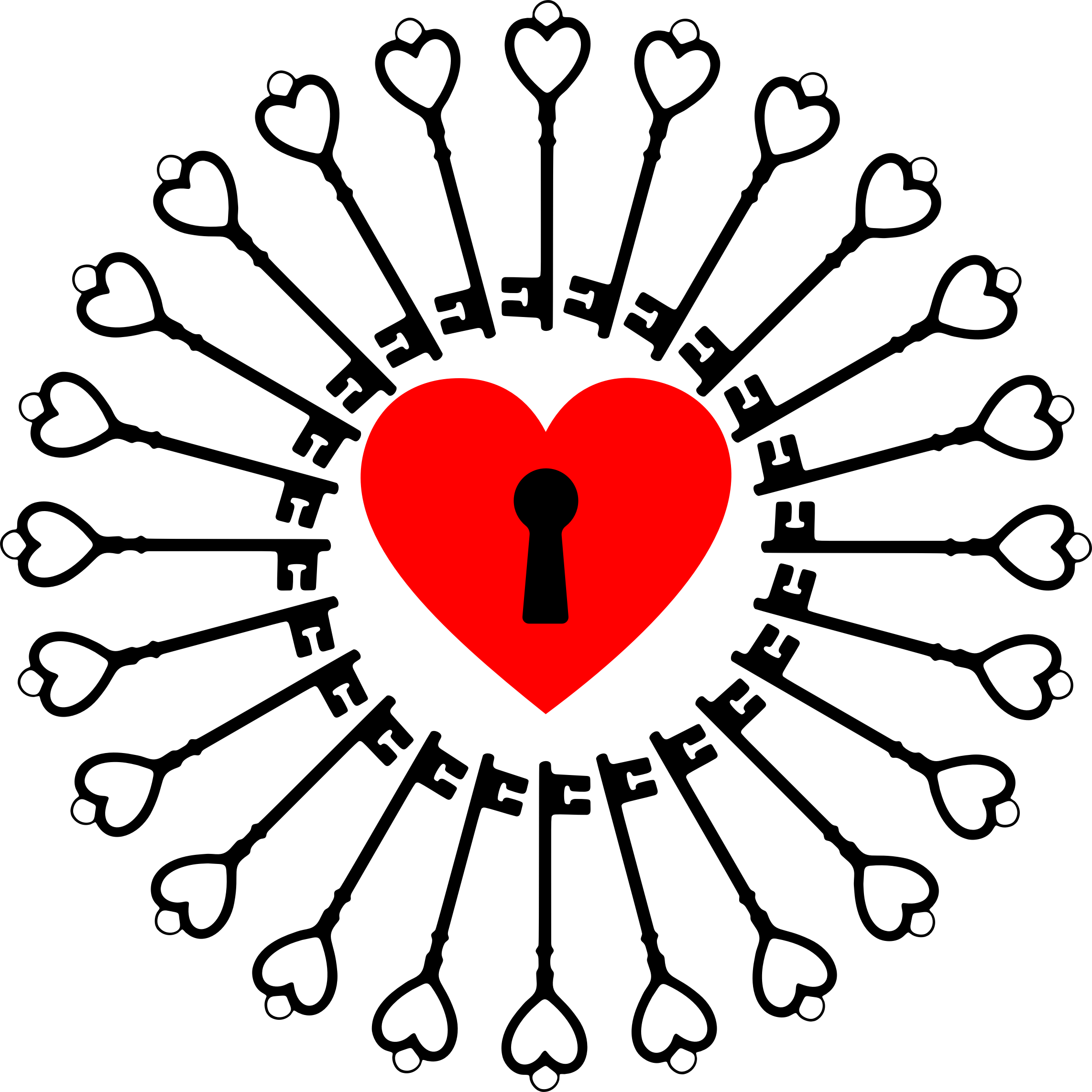 Locked and keys big. Lock clipart heart