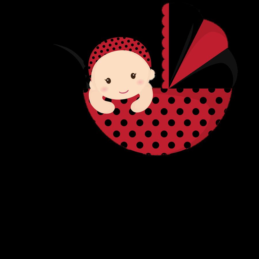 Beb menino e menina. Ladybugs clipart baby shower