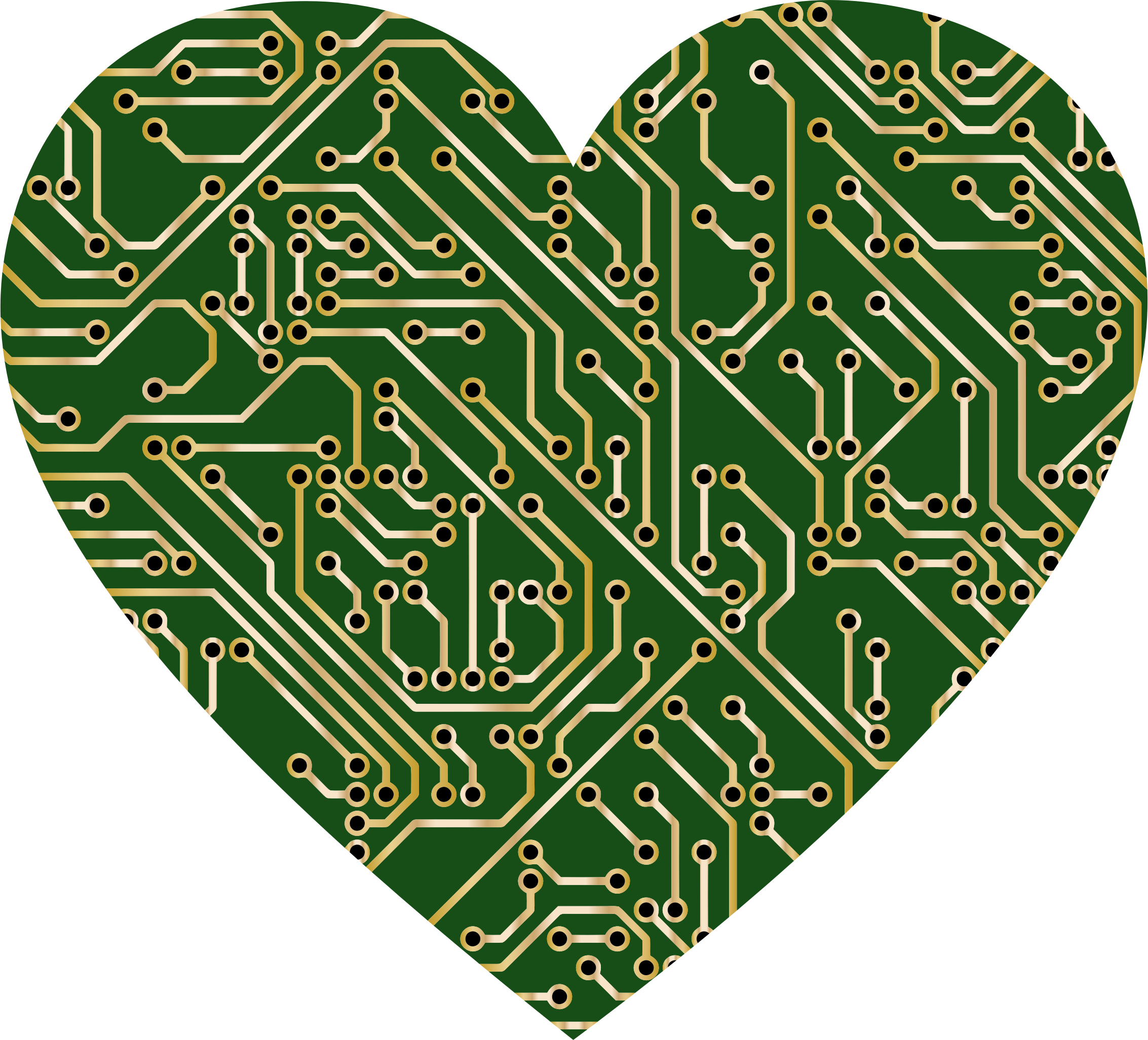 Clipart heart leopard print. Printed circuit board icons