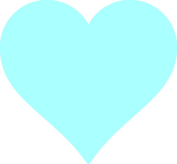 Blue heart clip art. Heartbeat clipart green